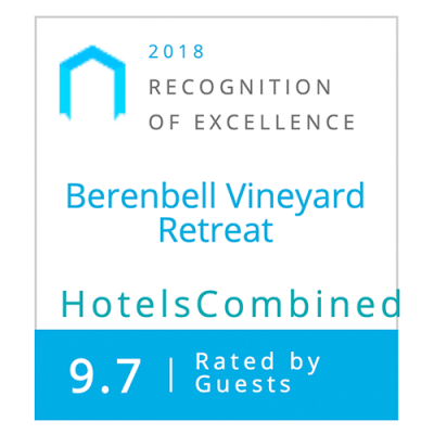 Hotels Combined Awards 2018 - Berenbell Vineyard Retreat