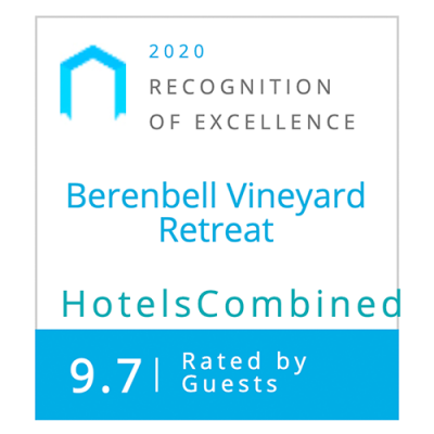 Hotels Combined Awards 2020 - Berenbell Vineyard Retreat