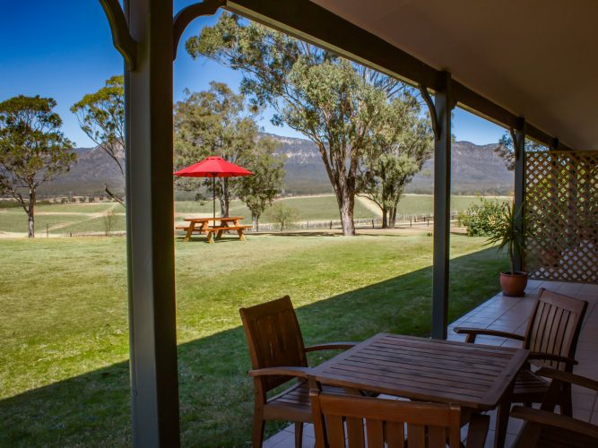 Berenbell Vineyard Retreat - View from a two bedroom Lodge
