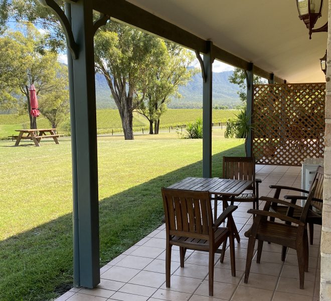 Separate outdoor seating of the Two Bedroom Lodges at Berenbell