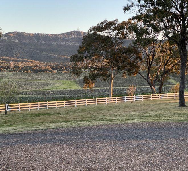 Berenbell's new white fence